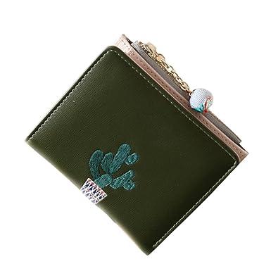 7b2e59e46467 財布 レディース ミニ 二つ折り ファスナー付き 高級PU 可愛い お花飾り カードケース 小さい 葉