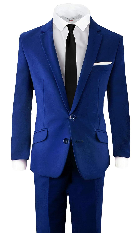 56f4e126b Amazon.com: Black n Bianco Signature Boys' Slim Fit Suit Complete Outfit:  Clothing