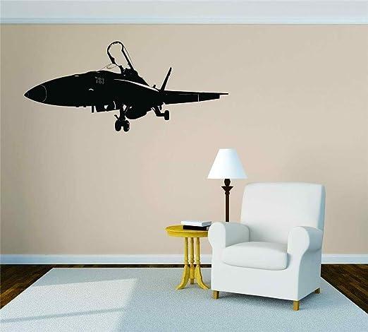 5 X aviones militares-Pegatinas De Pared Arte-Vinilo Arte Calcomanías