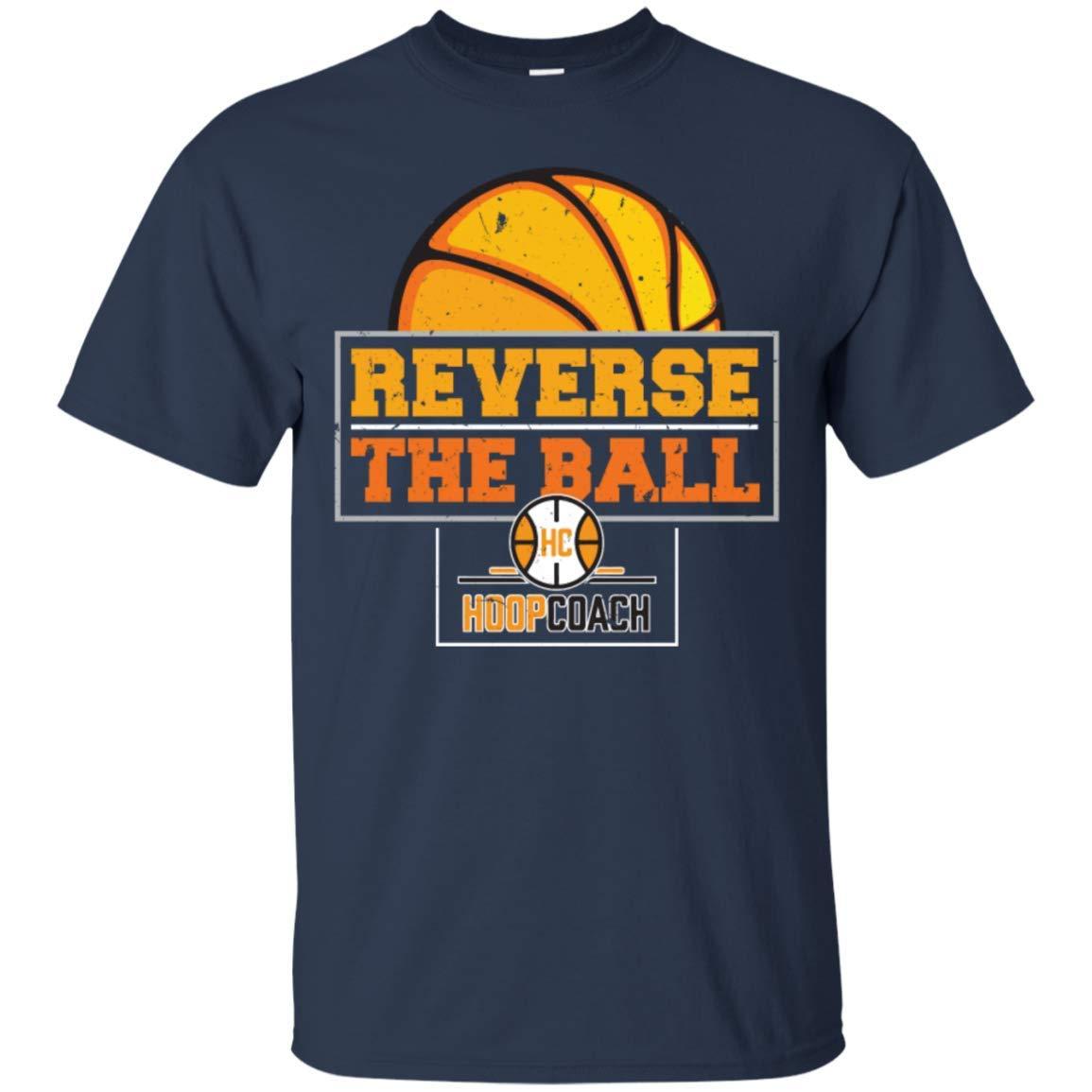 a3e321572 Amazon.com: Reverse The Ball Hoop Coach Basketball - Men's Premium T-Shirt:  Clothing