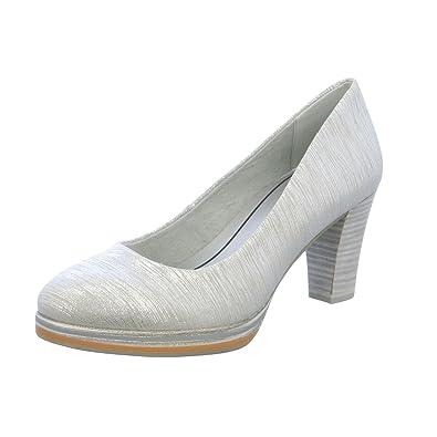 82216380a85 MARCO TOZZI Women s Court Shoes Silver Size  6 UK  Amazon.co.uk ...