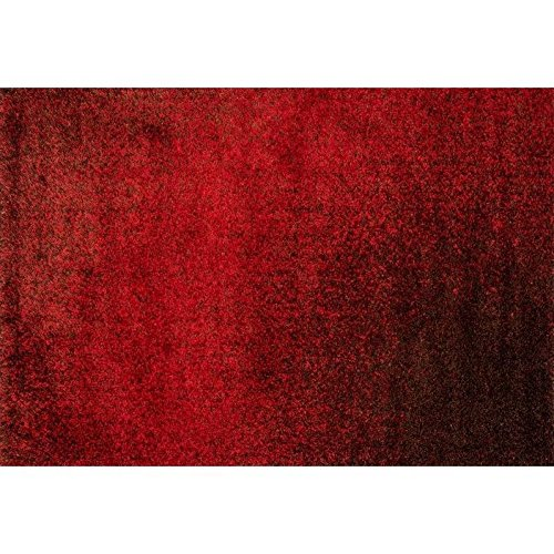 Loloi Barcelona Shag BS-01 Polypropylene And Viscose 7-Feet 7-Inch by 10-Feet 5-Inch Area Rug, Red/Brown (Barcelona Brown Rug)
