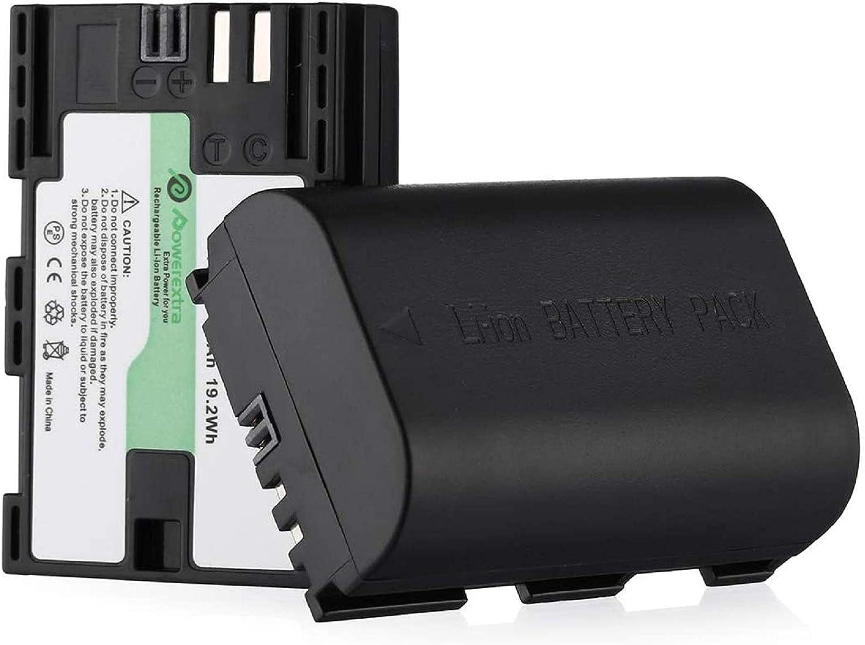 Powerextra 2 Stück Ersatzakku Für Canon Lp E6 Zu Canon Amazon De Elektronik