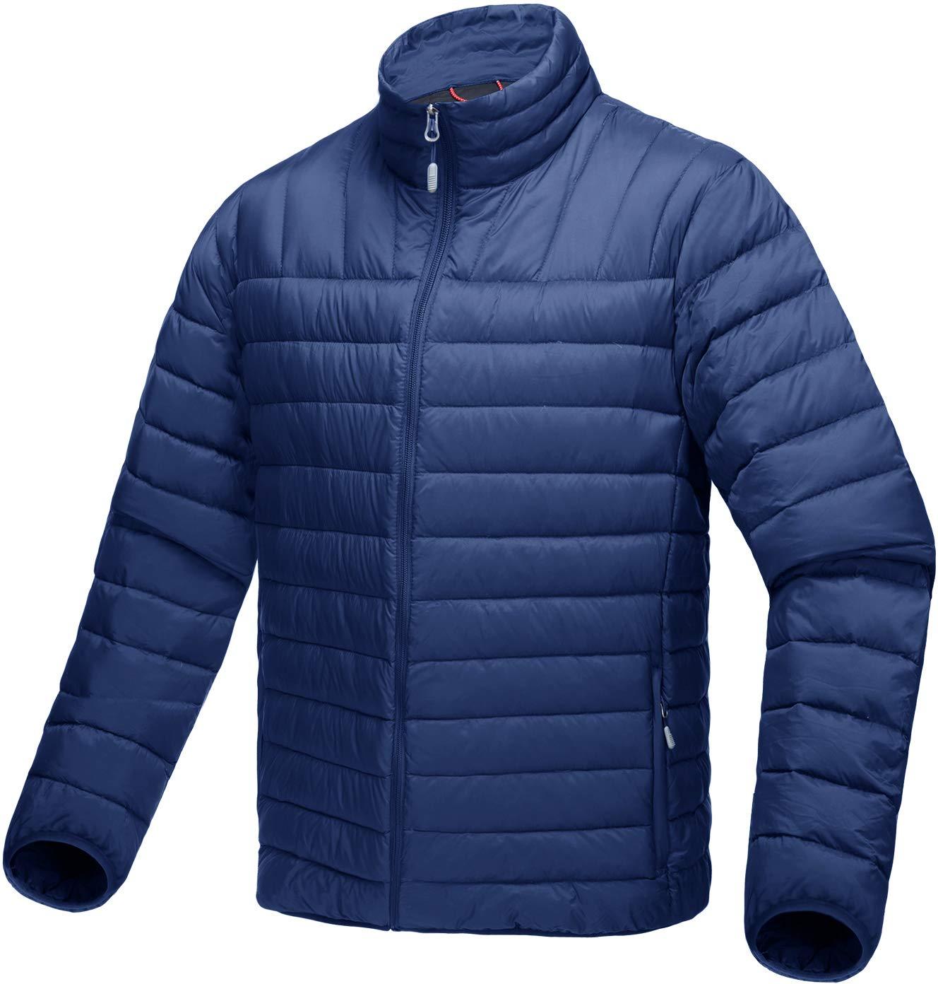 TACVASEN Herren Leichte Warme Daunenjacke Outdoor Camping Skijacke Daunen Jacke
