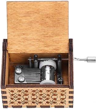 Wal front Caja de Música de Manivela de Madera, Caja de Música, Caja de Música de Madera, Grabada a Mano Vintage Regalo de Cumpleaños(Harry Potter): Amazon.es: Juguetes y juegos