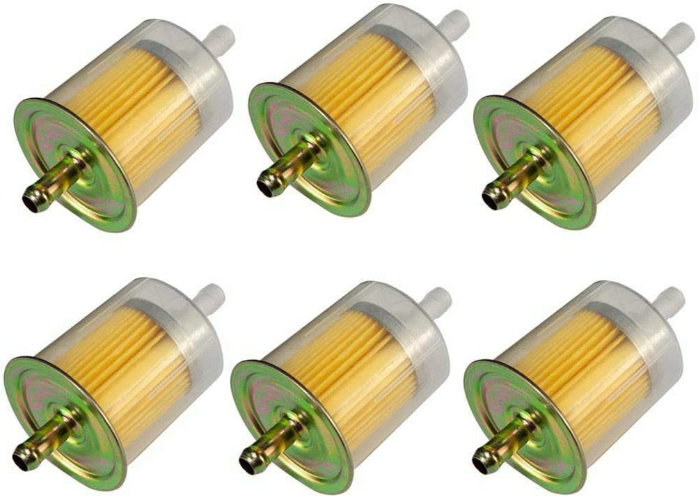 Nrpfell 10X 3//8Inch Fuel Filters High Performance Universal Inline Fuel Filter