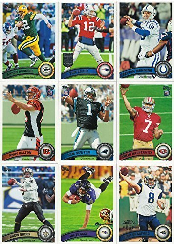 2011 Topps NFL Football Series Complete Mint Hand Collated 440 Card Set Loaded with Rookies Including JJ Watt, Colin Kaepernick, Cam Newton Plus Complete M (Mint) (Football Card Box 2011 compare prices)