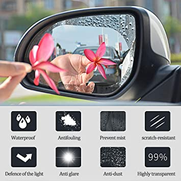Amazon Com Ayuqi Rearview Mirror Protective Shield Film Rainproof