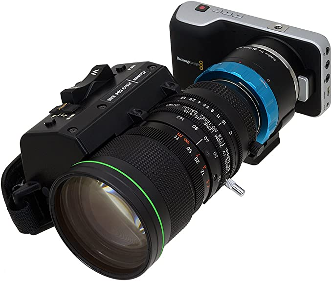 """2//3/"""" Fotodiox Pro PowerLynx Kit Compatible with B4 ENG Cine 12-Pin Lenses to Blackmagic Design Pocket Cinema Camera with MFT Mount"""