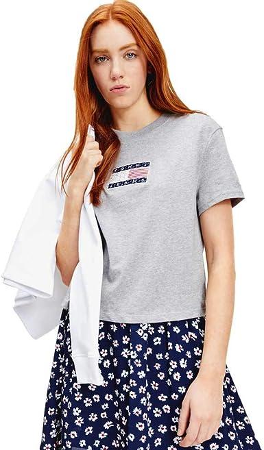Tommy Hilfiger - Camiseta Bandera DW0DW08482P01 EN Color Gris ...