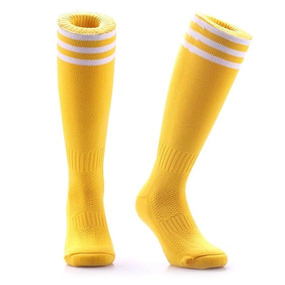Samson Hosiery ® amarillo calcetines de fútbol rodilla alta rayas grandes Hockey Unisex Rugby para hombre: Amazon.es: Ropa y accesorios