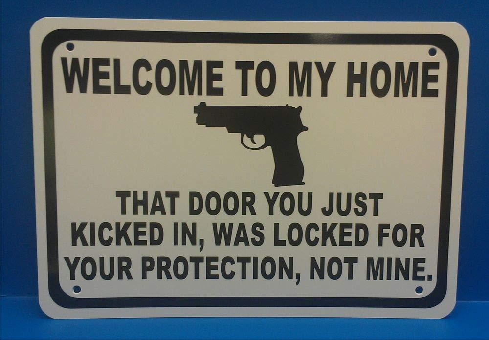 PotteLove Cartel de Seguridad con Texto en inglés Welcome to ...