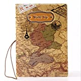 Travel World Passport Holder Ticket Document Protector Cover Case...