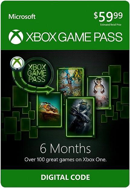 Amazon.com: Xbox Game Pass: 6 Month Membership [Digital Code ...