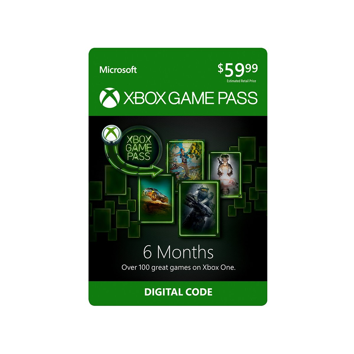 Xbox Game Pass: 6 Month Membership [Digital Code] by Microsoft