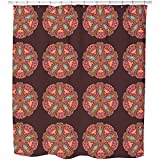 Uneekee The Mandala Of The Maharani Shower Curtain: Large Waterproof Luxurious Bathroom Design Woven Fabric