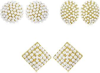 Sukkhi Copper Stud Earrings for Women (Golden) (CB70128GLDPD550)