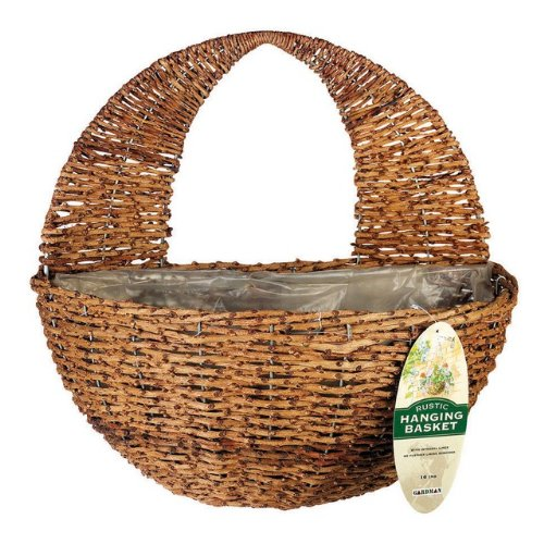 Attractive Amazon.com : Gardman R496 Rustic Rattan Hanging Wall Basket, 16  ND62