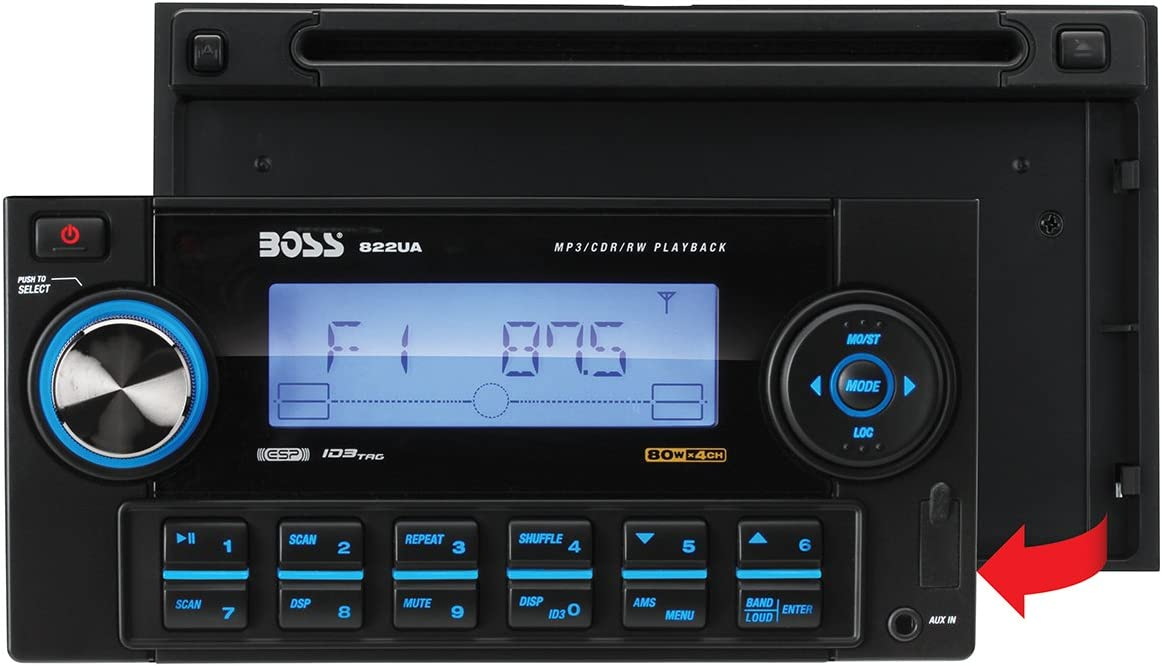 [SCHEMATICS_48IS]  Amazon.com: BOSS Audio Systems 822UA Double-DIN MP3 Player Receiver -  Discontinued by Manufacturer: Car Electronics   Boss 822ua Wiring Harness      Amazon.com