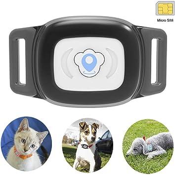 BARTUN Mini rastreador de mascotas localizador GPS para perros y ...