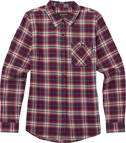 - Burton Women's Grace Long Sleeve Woven Shirt, Anemone Haze Plaid, Medium