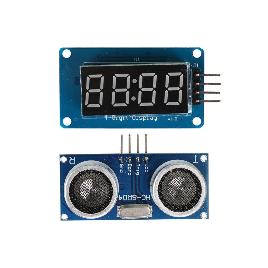 Jinzuke HC-SR04 à ultrasons Distance de Mesure + Module d'affichage pour Arduino