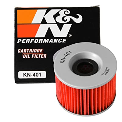 K&N Motorcycle Oil Filter: High Performance, Premium, Designed to be used with Synthetic or Conventional Oils: Fits Select Kawasaki Vehicles, KN-401: Automotive