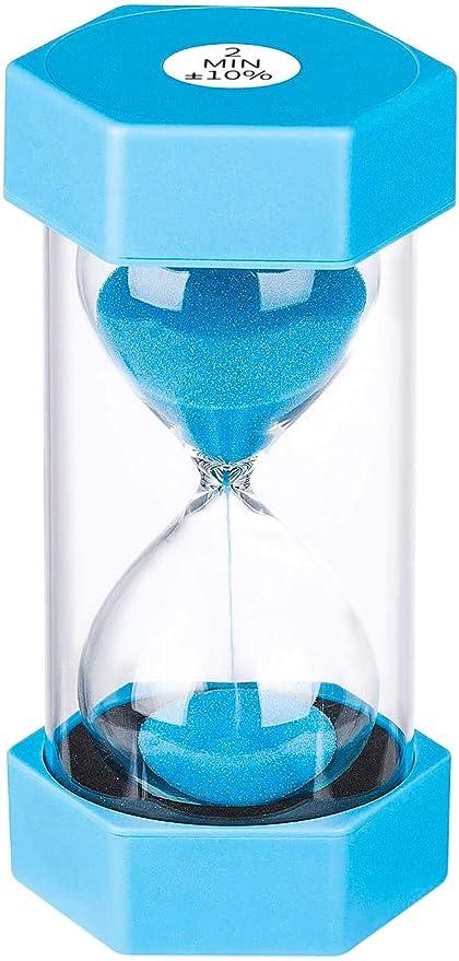 Sand Timer Colorful Set of 2 Minutes Hour Glasses Hourglass Sand Colored Sand Timer for Kids /& Adults,12 PCS