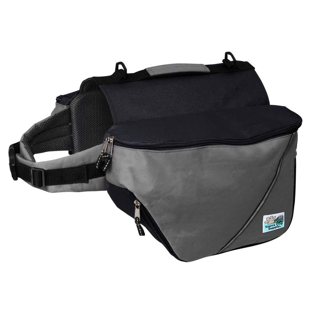 Doggles Dog Backpack, Large, Gray/Black