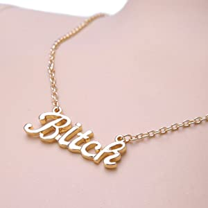 Bitch Letter Necklace For Birthday Party Gift Choker Chains Fashion Jewelry