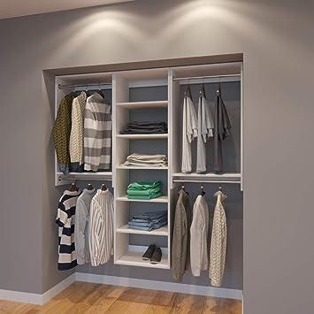 Amazon.com: Sistema modular de armarios 6 ft organizador de ...