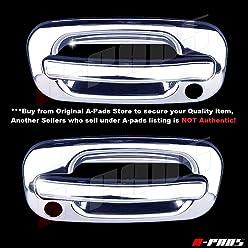 Fuel Chromed Cap Tank A-PADS Chrome Gas Door Cover for GMC YUKON XL SERIES 2000-2006