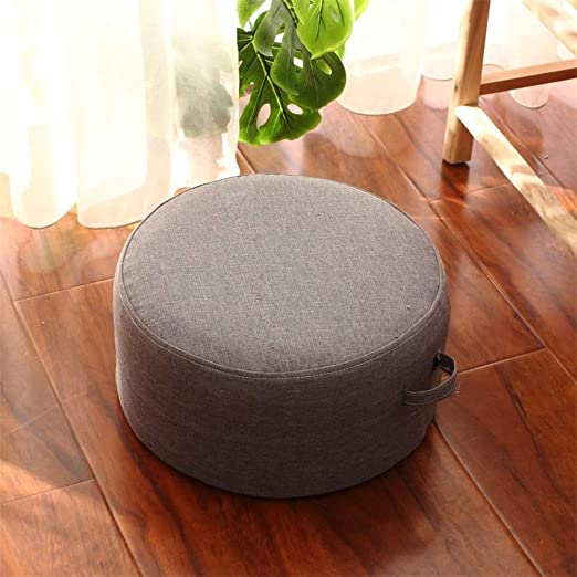 Removable Round Cushion Increased Seat Tatami Linen Floor Cushion Home Decor