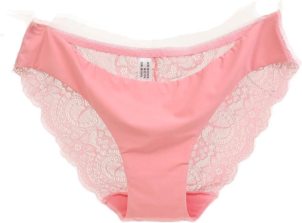ZEFOTIM Sexy Underwear, Women Lace Panties Seamless Cotton Panty Hollow Briefs Underwear