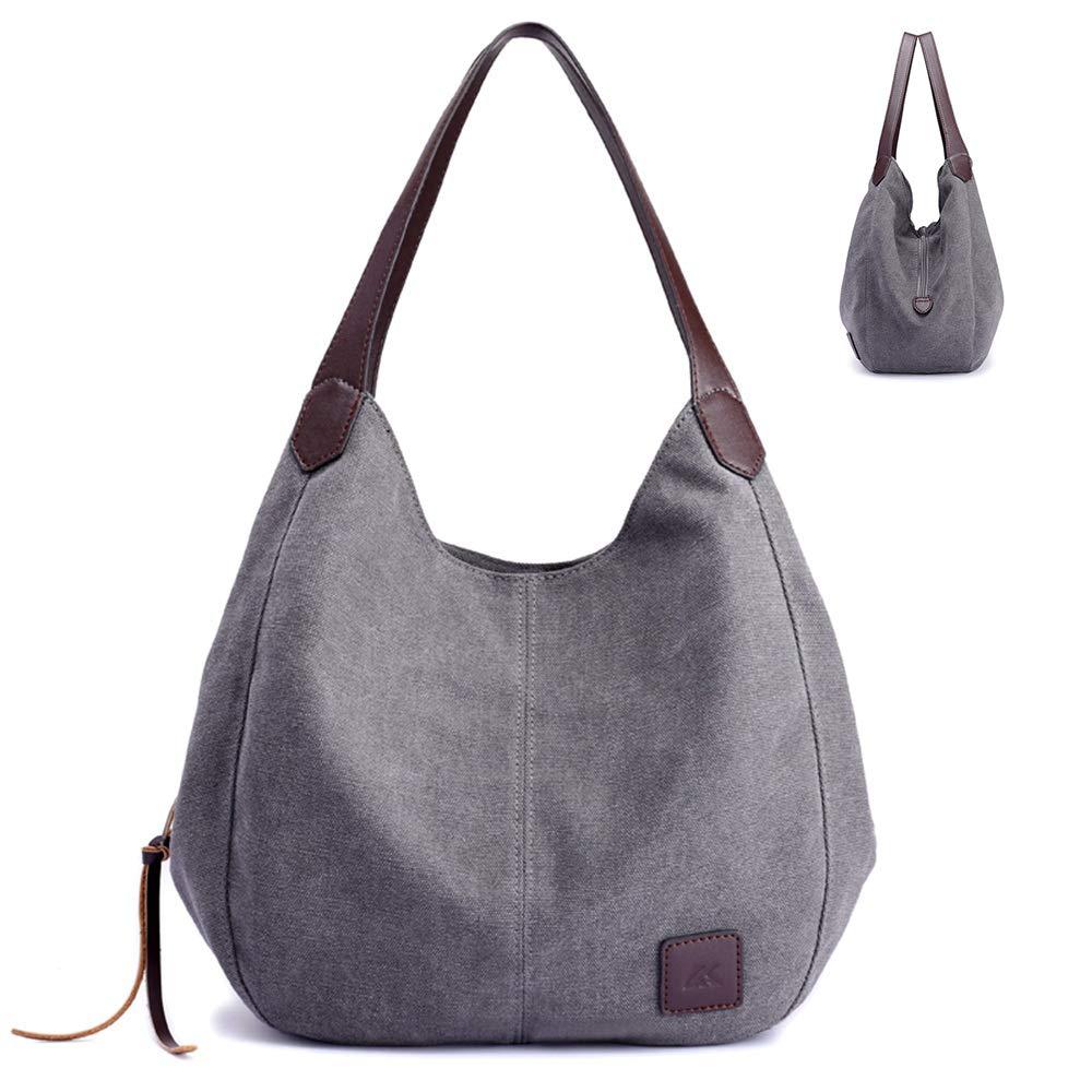 9b1ae1f9312 ... Women Bag Travel Casual Handbag for Ladies Proking · Lady Canvas Simple  Shoulder Bucket Tote Causal Fashion Large Capacity Bag with PU Handle  Stylish ...