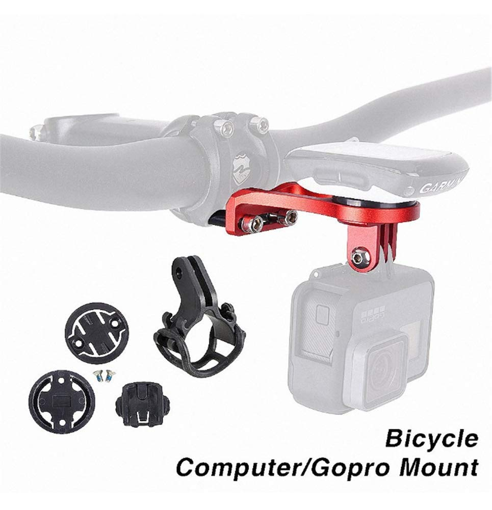 kfukcdz Geagodelia Compatible Support Double Usage pour Barre de Guidon de V/élo pour Gopro Compteur GPS Garmin Edge 200 500 510 520 800 810 820 1000