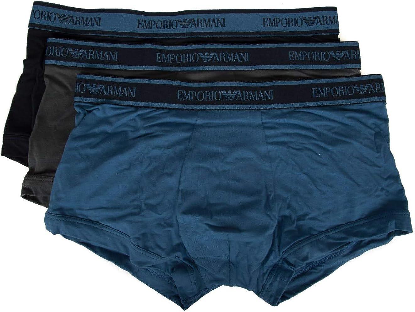 Emporio Armani Pack 3 Boxer Calzoncillos Hombre tripack artículo 111357 8A717