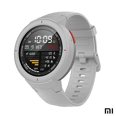 Amazfit Verge Xiaomi Smartwatch Deportivo - Reloj Deportivo GPS | Sensor de Frecuencia Cardíaca| Reproduce Música | Blanco (Versión Internacional) ...