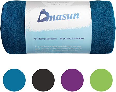 DMASUN Yoga Towel,Yoga Mate Towel Super Soft Microfiber Sweat Absorbent,on-Slip Injury Free 72x26 Hot Yoga Towels Included 29