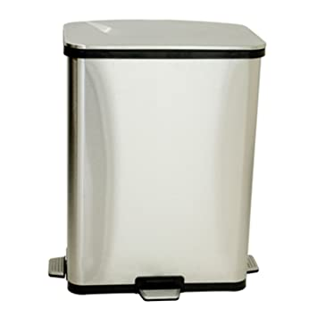 ITouchless 13 Gallon Step Sensor Stainless Steel Trash Can, Automatic Kitchen  Trash Can With Unique