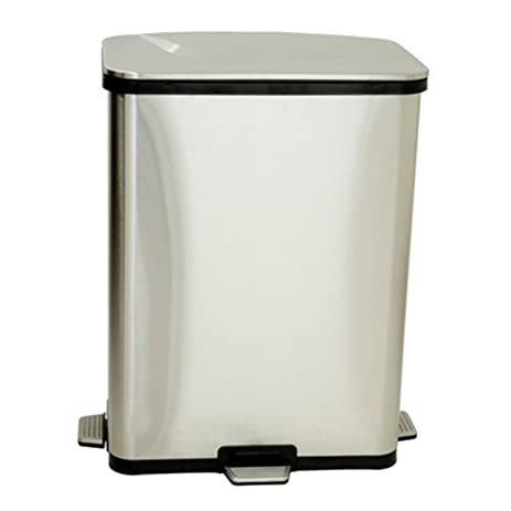 Amazon.Com: Itouchless 13 Gallon Step Sensor Stainless Steel Trash