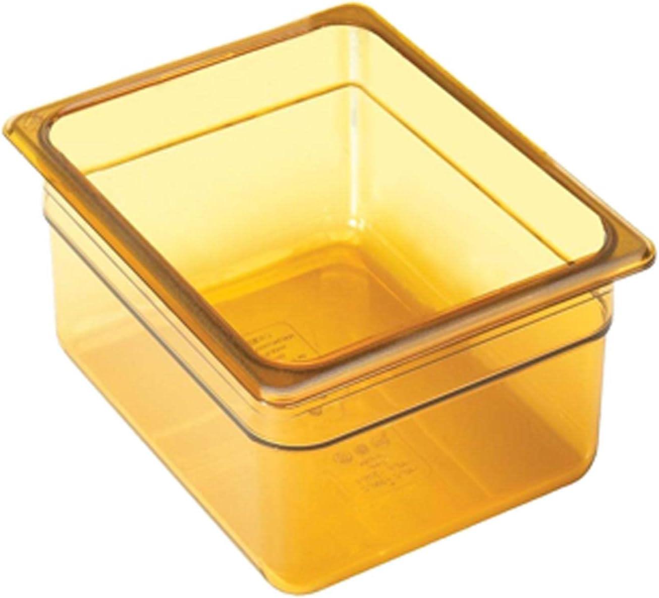 Cambro 26HP150 H-Pan 1/2 Size High Heat Food Pan, Amber, 6