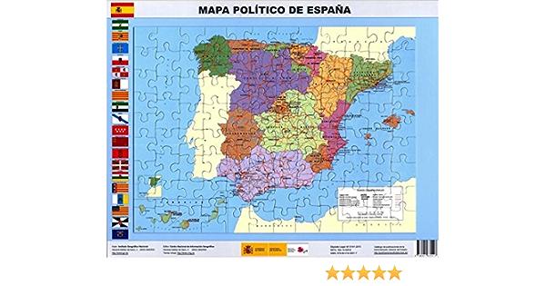 Puzle magnético Mapa político de España. 97 piezas. 37 x 27. IGN/CNIG: Amazon.es: VV.AA.: Libros
