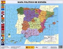 Puzle magnético Mapa político de España. 97 piezas. 37 x 27. IGN ...