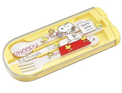 Home & Garden Nice Japanese Bento Fork Spoon Chopsticks And Case 4 In 1 Snoopy