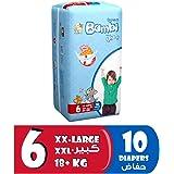 Sanita Bambi Baby Diapers Regular Pack Size 6, XX-Large, +18 KG, 10 Count