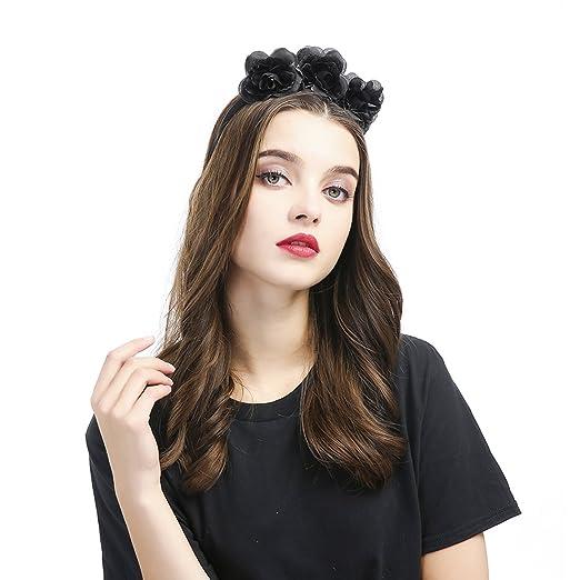 Amazon Com Sunshine Girl Rose Flower Wreath Headband Brides Women