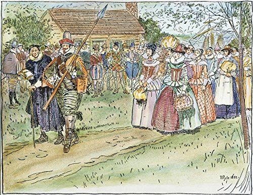 Jamestown Women 1621 Nthe Arrival In 1621 At Jamestown Virginia Of Respectable Young Women For Wives Of Those Colonists Who Would Pay The Cost Of Transportation-One Hundred And Twenty Pounds -