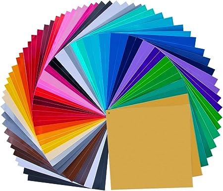 """Vinilo de 12 """"X 12"""" 68 láminas en increíbles 32 colores diferentes, 3 mil de grosor (3 colores de me"""