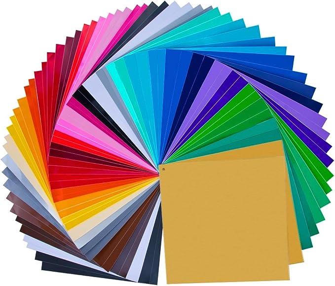 Paquete de 68 hojas de vinilo autoadhesivas permanentes premium de ...